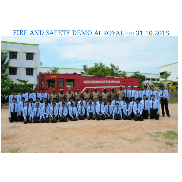 Fire and Safety Demo at Royal